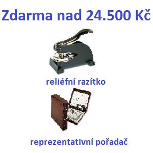 Zdarma nad 900€: reliéfna pečiatka + reprezentatívny zakladač